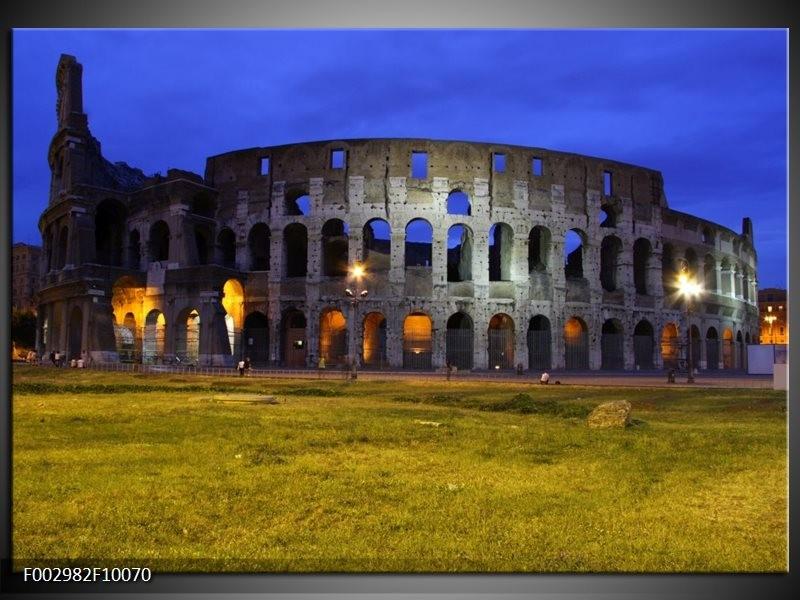 Foto canvas schilderij Rome | Blauw, Grijs, Groen