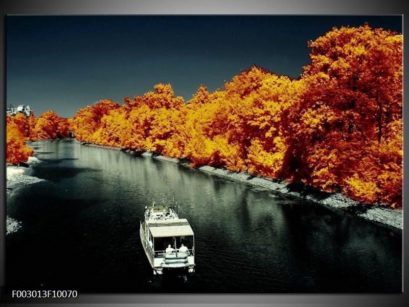 Foto canvas schilderij Boot | Bruin, Zwart, Grijs