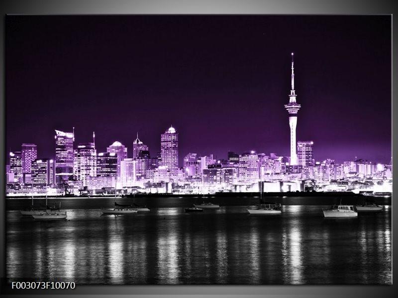 Foto canvas schilderij Nacht | Paars, Grijs, Zwart