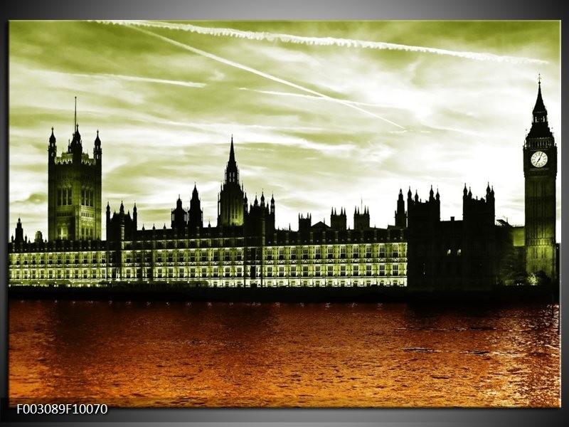 Foto canvas schilderij Londen | Bruin, Groen