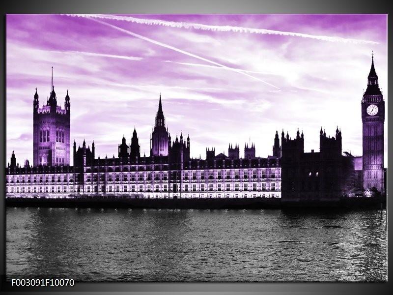 Foto canvas schilderij Londen | Paars, Zwart