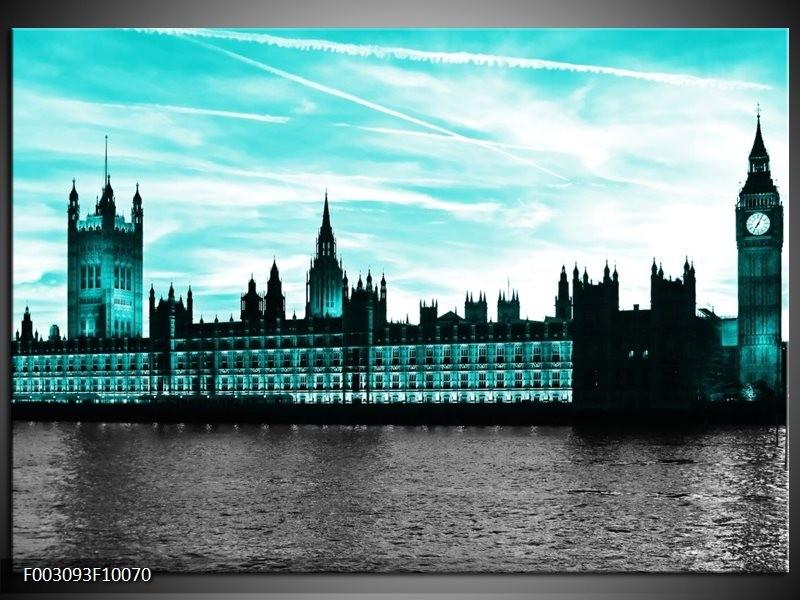 Foto canvas schilderij Londen   Groen, Zwart