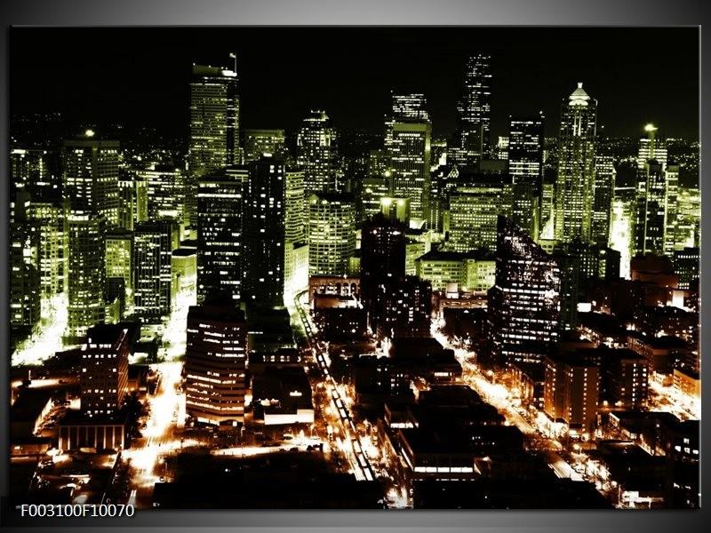 Foto canvas schilderij Nacht | Bruin, Groen, Zwart