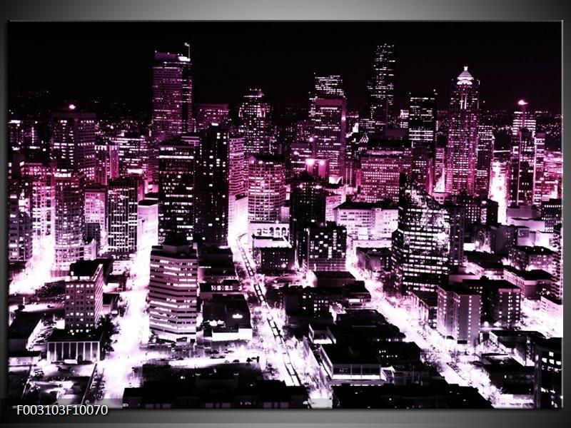 Foto canvas schilderij Nacht | Paars, Zwart