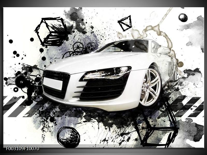 Foto canvas schilderij Audi | Wit, Zwart, Grijs