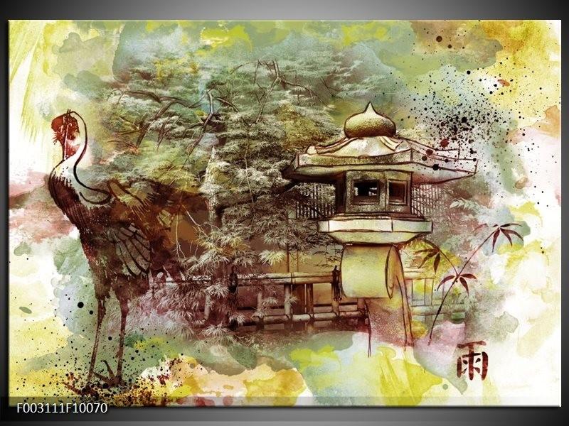 Foto canvas schilderij Natuur | Groen, Rood, Geel