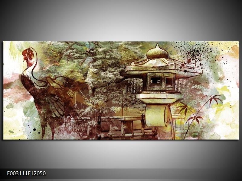 Canvas schilderij Natuur | Groen, Rood, Geel | 120x50cm 1Luik