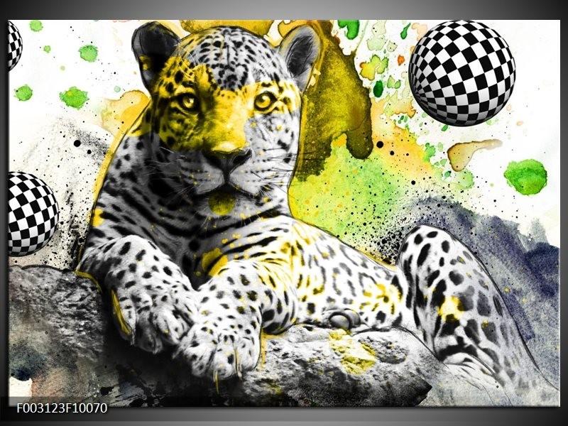 Foto canvas schilderij Natuur   Groen, Zwart, Wit