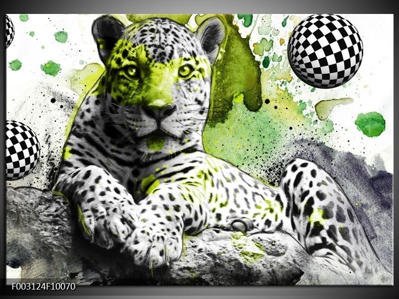 Foto canvas schilderij Natuur | Groen, Zwart, Wit