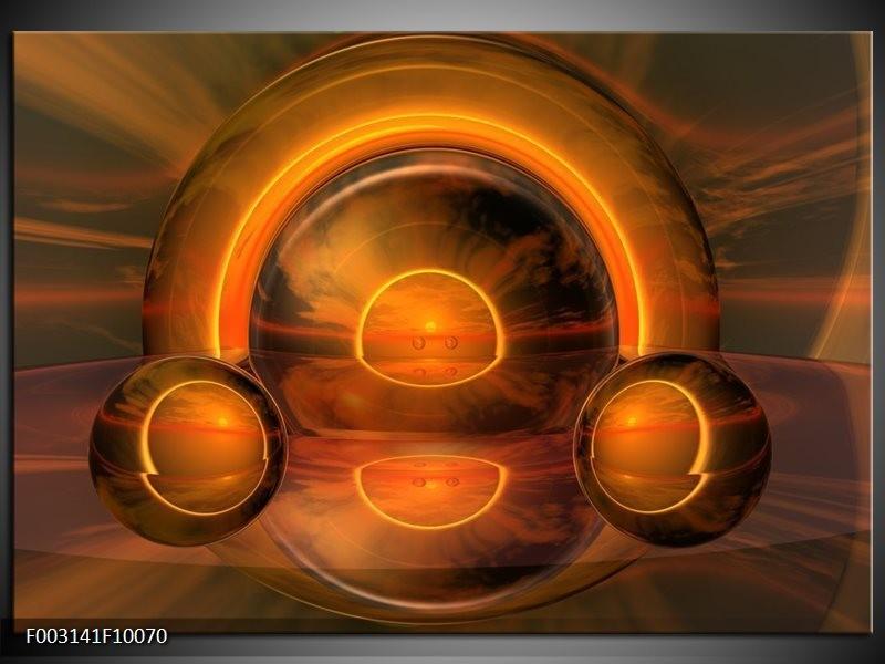 Foto canvas schilderij Abstract | Oranje, Bruin, Geel