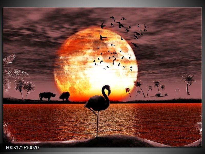 Foto canvas schilderij Natuur | Geel, Rood, Zwart