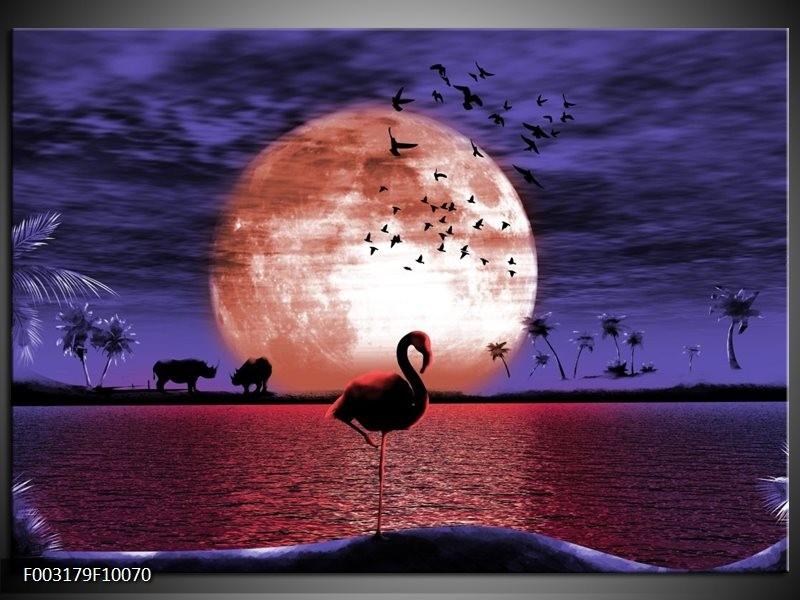 Foto canvas schilderij Natuur | Rood, Blauw, Wit