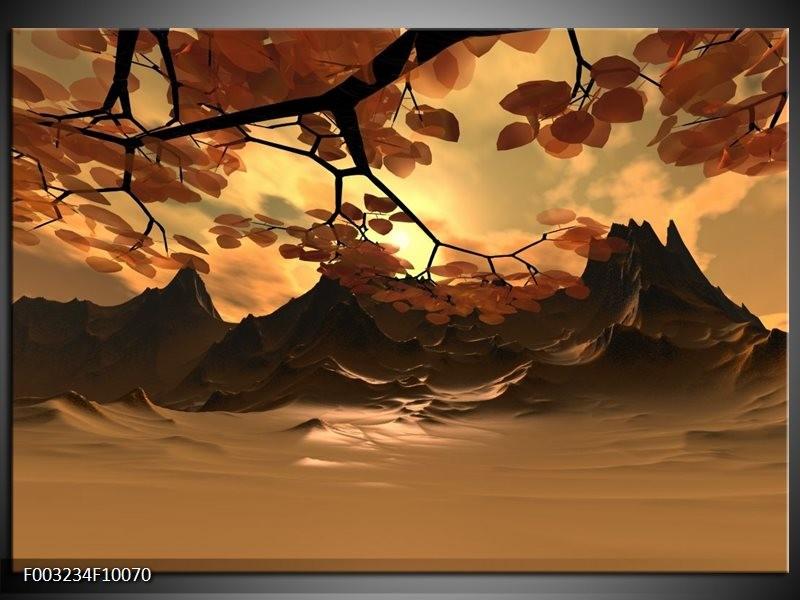 Foto canvas schilderij Natuur | Bruin, Wit, Geel