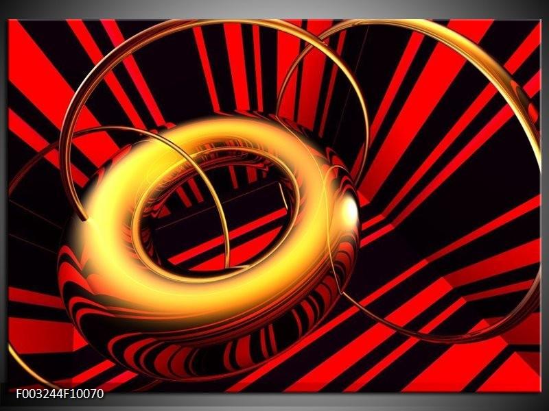 Foto canvas schilderij Abstract | Goud, Rood, Zwart