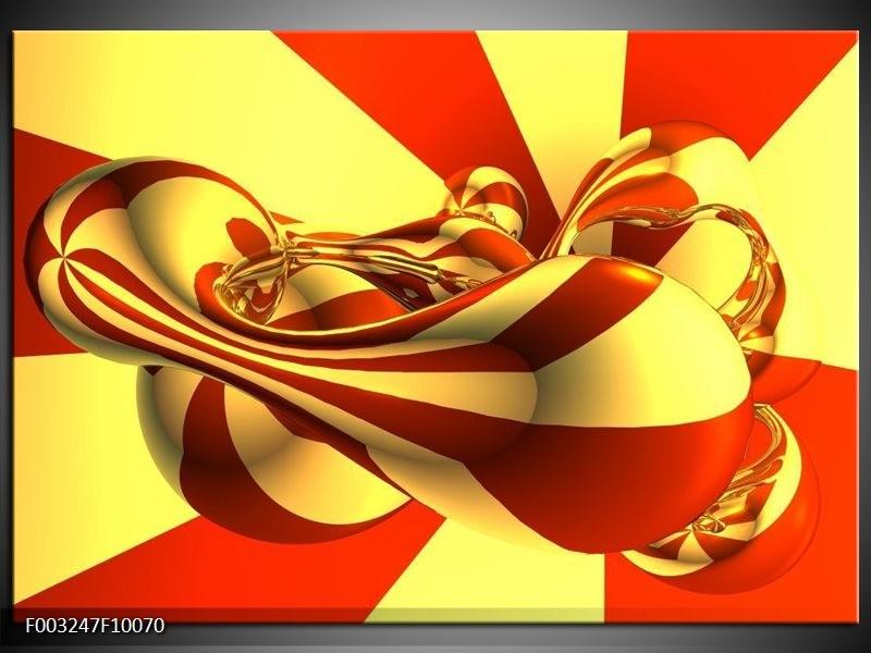 Foto canvas schilderij Abstract | Geel, Rood