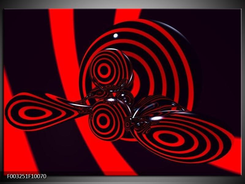 Foto canvas schilderij Abstract   Rood, Zwart