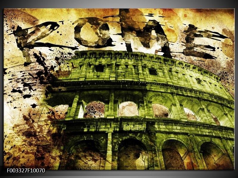 Glas schilderij Rome | Groen, Bruin