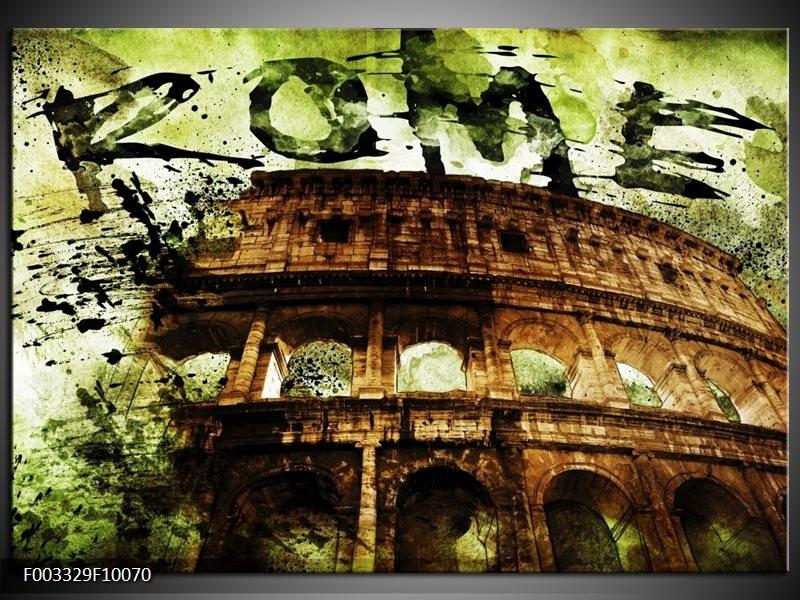 Glas schilderij Rome | Groen, Bruin, Zwart