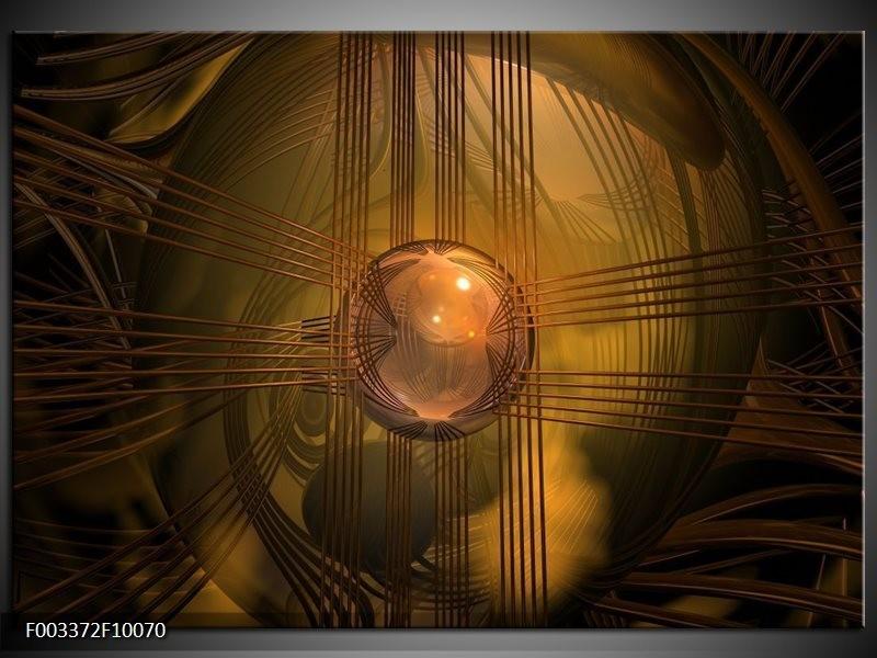 Foto canvas schilderij Abstract | Bruin, Geel
