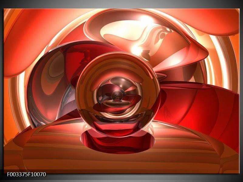 Glas schilderij Abstract   Rood, Zwart, Wit