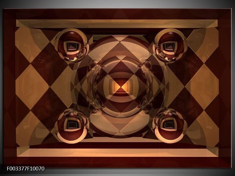 Glas schilderij Abstract   Bruin, Geel