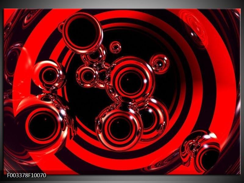 Foto canvas schilderij Abstract | Rood, Zwart
