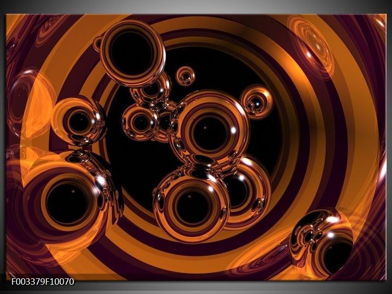 Glas schilderij Abstract | Bruin, Goud, Paars