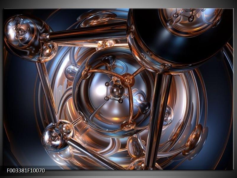 Foto canvas schilderij Abstract | Grijs, Wit, Blauw