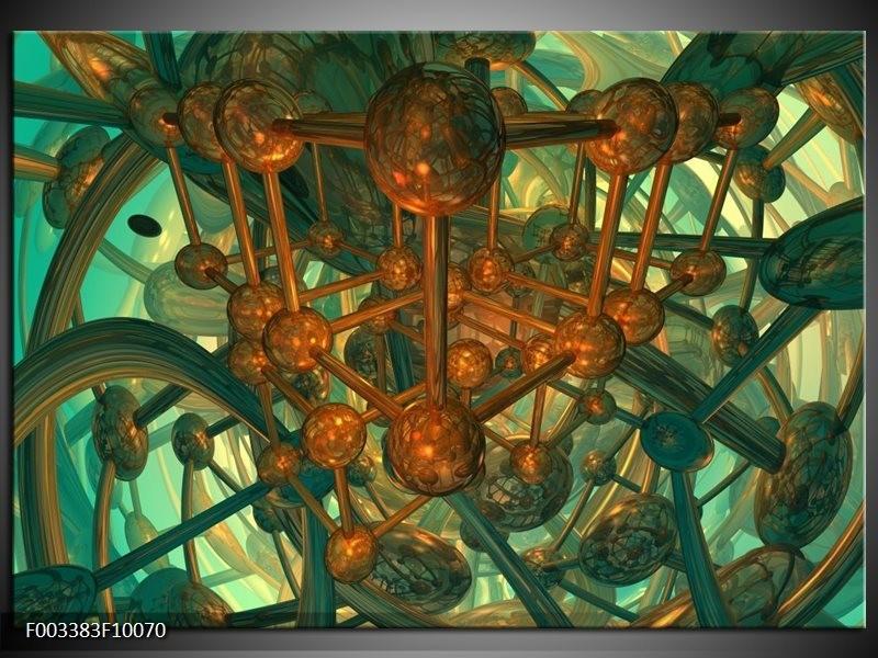 Glas schilderij Abstract | Groen, Bruin