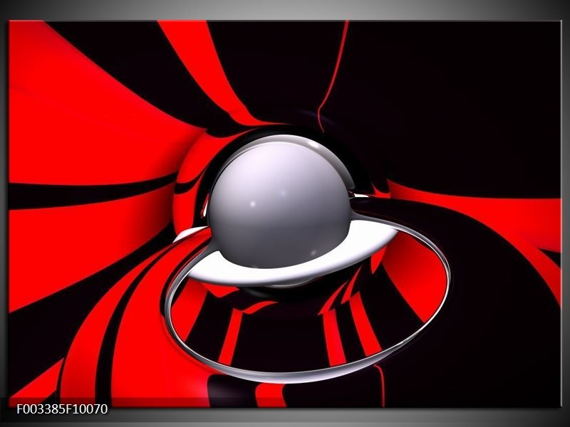 Foto canvas schilderij Abstract | Rood, Zwart, Grijs
