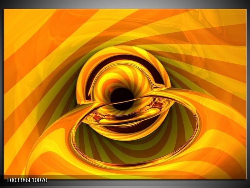 Foto canvas schilderij Abstract | Geel, Goud, Zwart