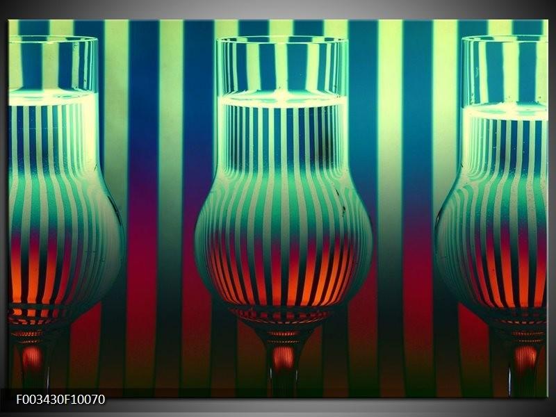 Glas schilderij Glas | Groen, Rood, Blauw