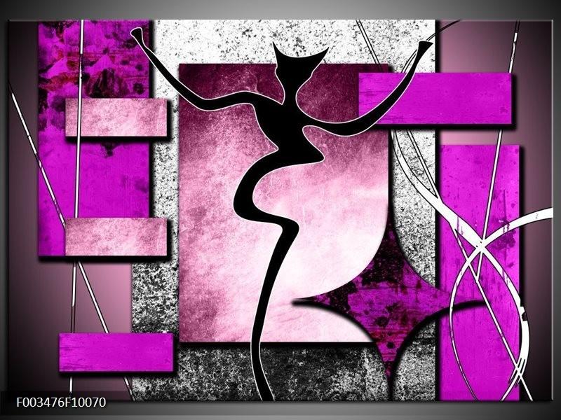 Foto canvas schilderij Abstract   Paars, Zwart, Wit