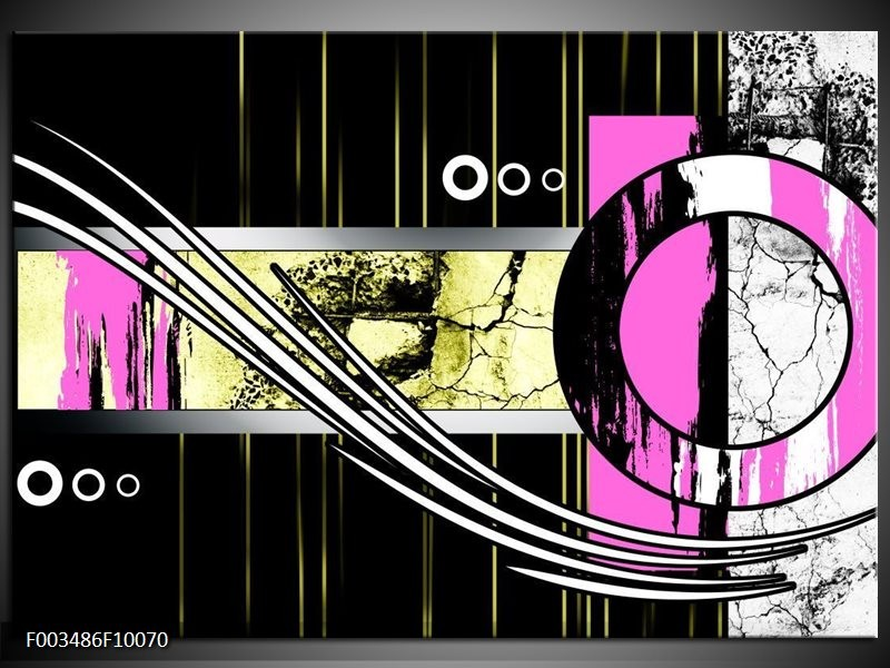 Foto canvas schilderij Abstract   Paars, Groen, Wit