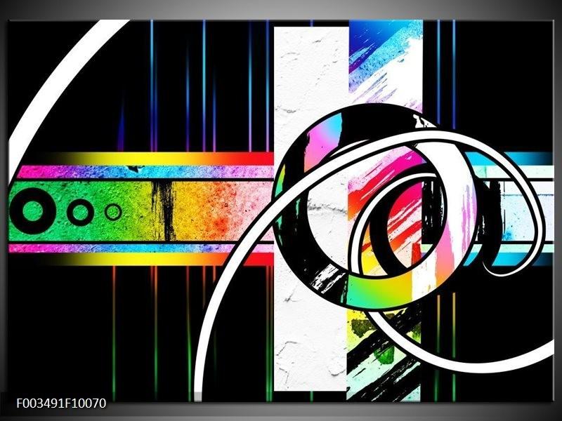 Foto canvas schilderij Abstract | Blauw, Rood, Geel