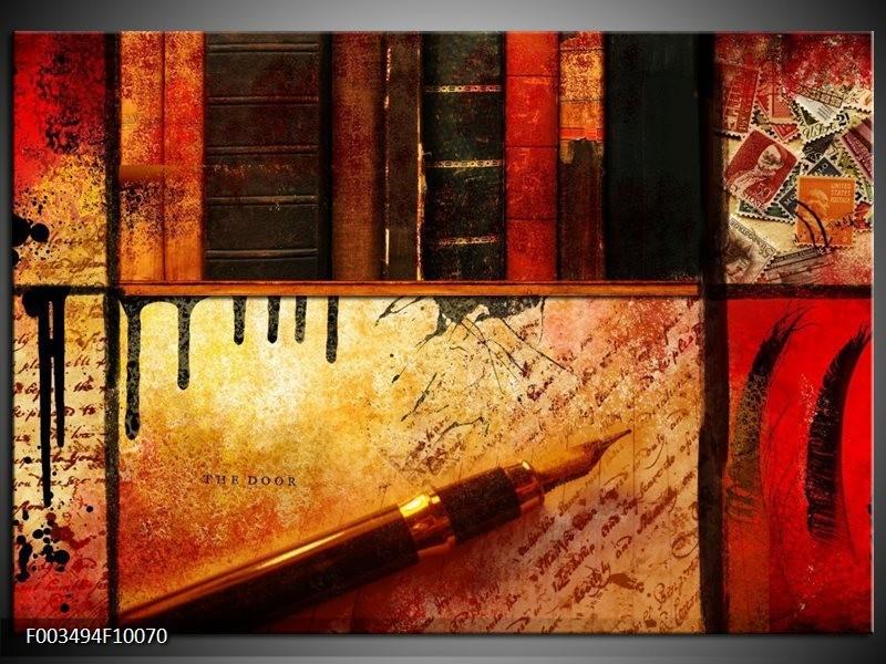 Foto canvas schilderij Abstract | Rood, Zwart, Bruin