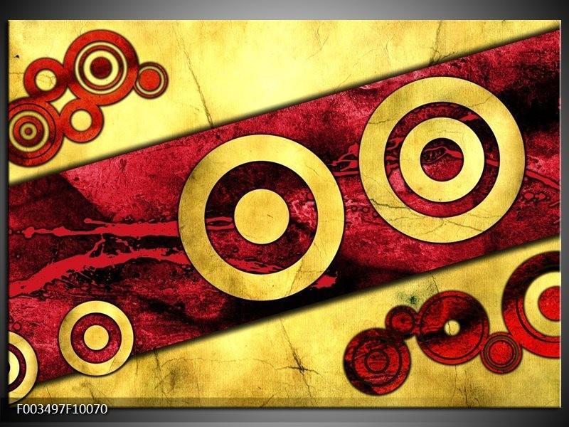 Foto canvas schilderij Abstract | Rood, Geel, Zwart