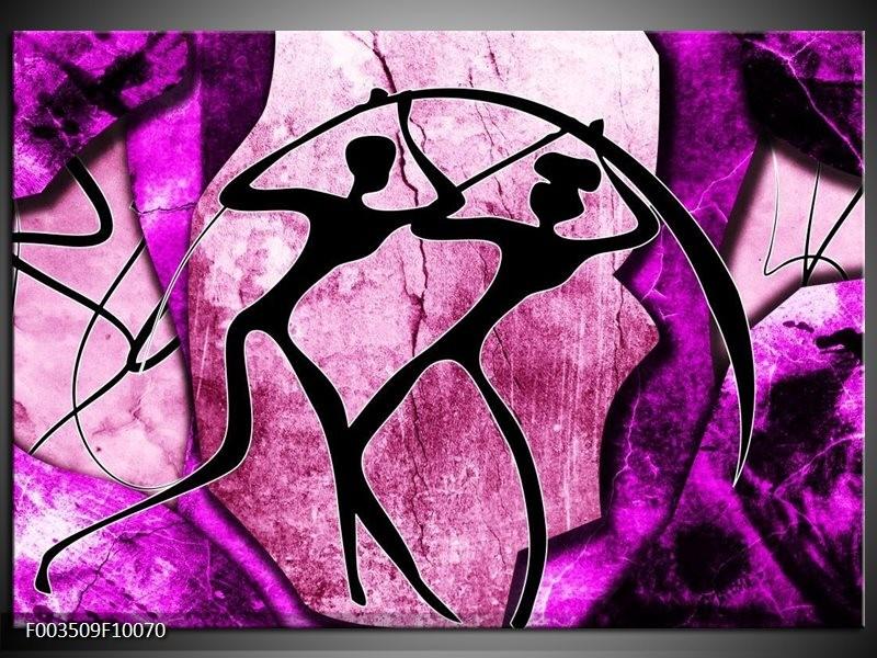 Foto canvas schilderij Abstract | Roze, Paars, Zwart