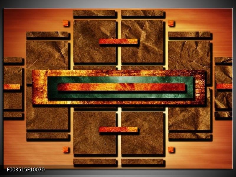 Glas schilderij Abstract | Bruin, Oranje, Geel