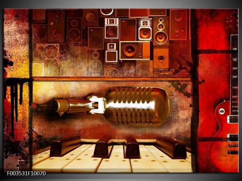Foto canvas schilderij Abstract   Rood, Bruin, Geel