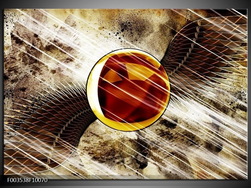 Foto canvas schilderij Abstract | Geel, Bruin, Wit