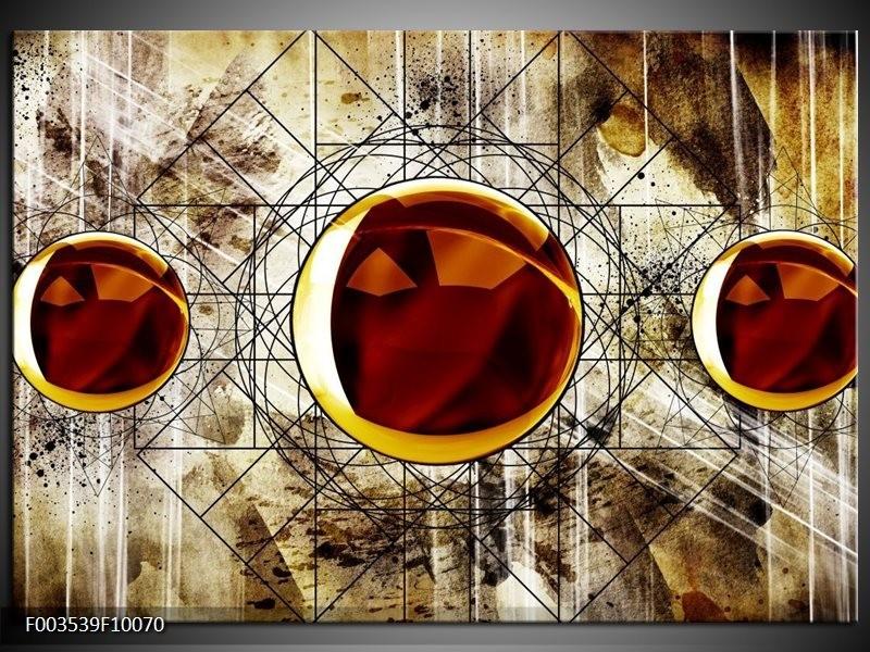Foto canvas schilderij Abstract | Geel, Bruin, Wit