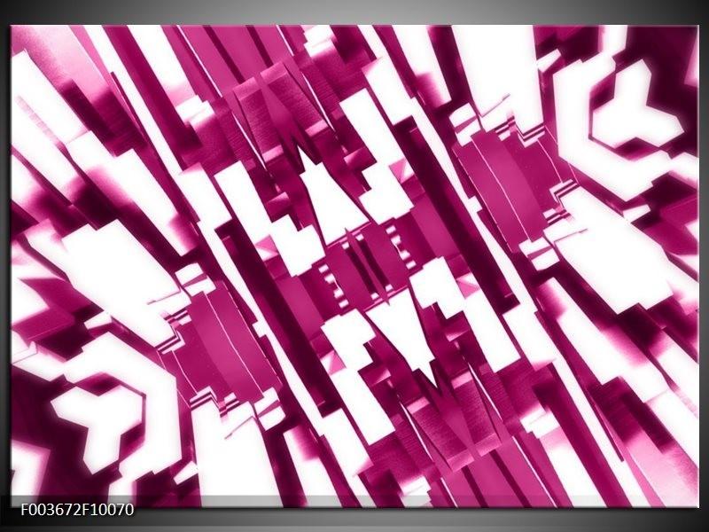 Glas schilderij Abstract | Wit, Paars