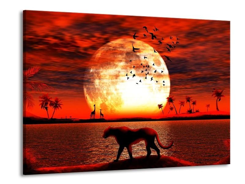 Glas schilderij Natuur | Rood, Wit, Zwart | 100x70cm 1Luik