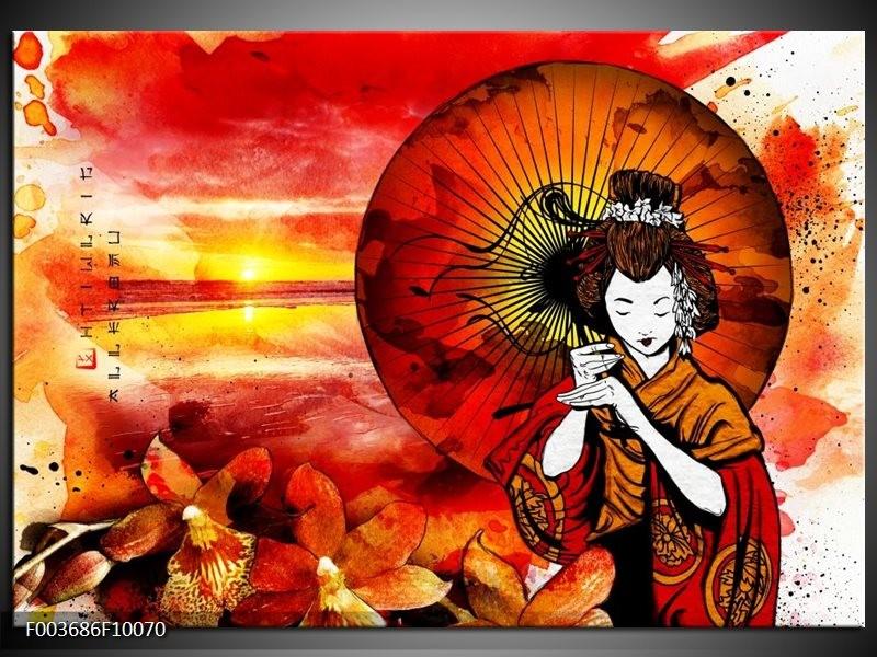 Foto canvas schilderij Abstract   Rood, Geel, Zwart