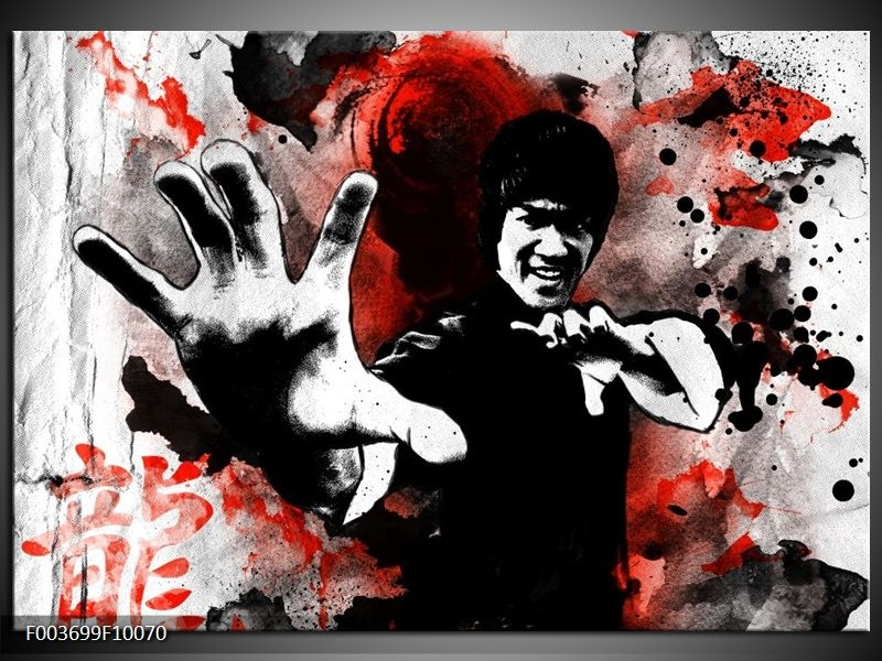 Glas schilderij Sport | Rood, Zwart, Wit