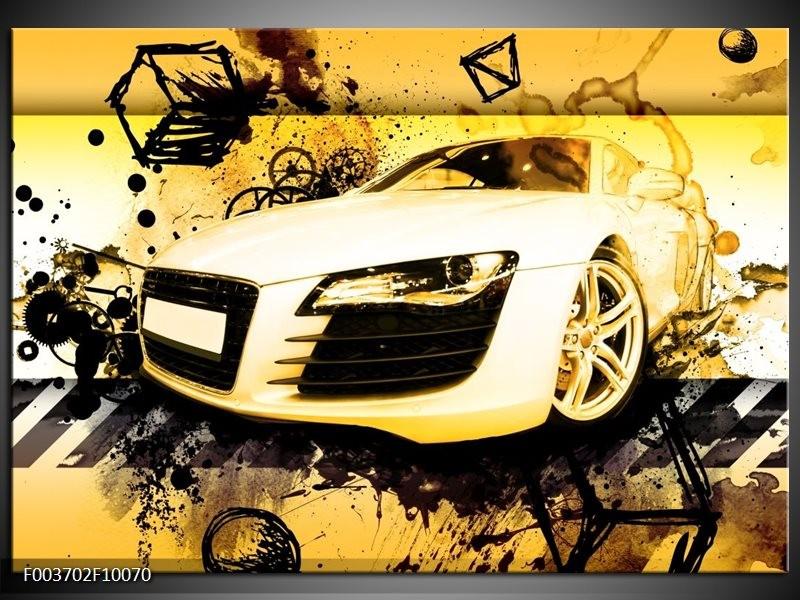 Foto canvas schilderij Audi | Geel, Zwart, Wit