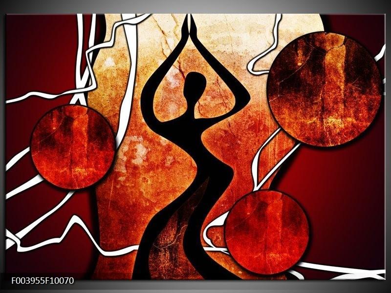 Foto canvas schilderij Abstract | Zwart, Rood, Wit