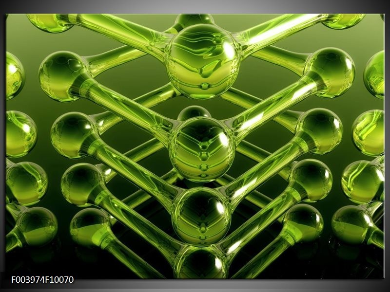 Foto canvas schilderij Abstract | Groen