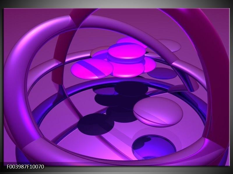 Glas schilderij Abstract | Paars, Blauw, Roze